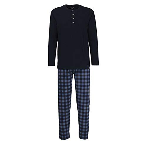 TOM TAILOR Herren Pyjama blau Bedruckt 1er Pack 56