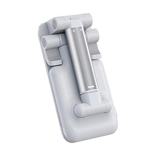 VEUNICEE Soporte Movil, Soporte Tablet, Multi-Angulo Soporte Movil, Soporte de Teléfono Plegable, Soporte para Smartphones como iPhone, Tablet, iPad, Samsung S8 S7, Huawei, etc (Blanco)