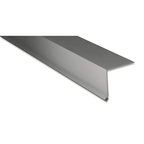 Traufenblech | Kantteil | 80 x 30 mm | 100° | Material Aluminium | Stärke 0,70 mm | Beschichtung 25 µm | Farbe Graualuminium