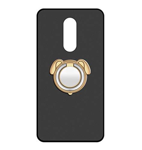 Sunrive Für ZTE Nubia Z11 Max Hülle Silikon, 360°drehbarer Ständer Ring Fingerhalter Fingerhalterung Handyhülle matt Schutzhülle Etui Case (Farbe Golden)+Gratis Universal Eingabestift MEHRWEG