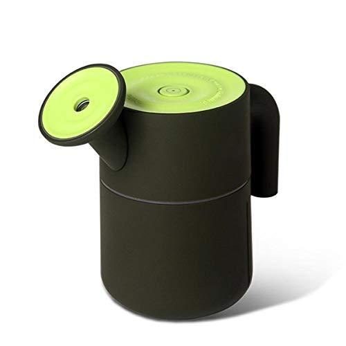 ZQY mini-ketelbevochtiger met led-nachtlamp-luchtbevochtiger 200 ml draagbare ultrasone koude mist fluisterstille werking automatisch sluiten slaapkamer thuiskantoor auto met USB-stroomvoorziening