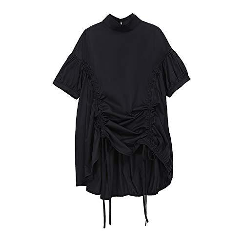 HOSD Camisa de Cuello Suelto con cordón para Mujer Todo fósforo Mujer
