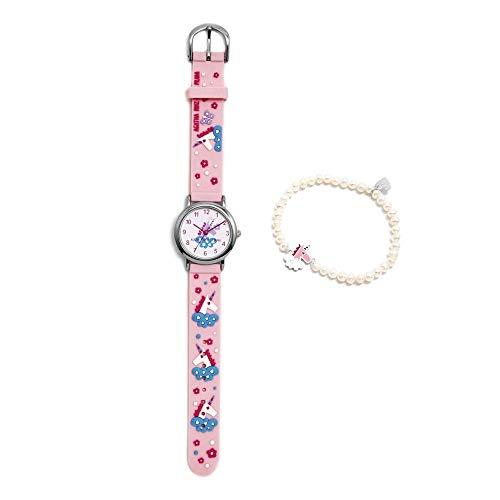 Conjunto Agatha Ruiz de la Prada AGR301 colección Fantasía niña unicornio reloj pulsera plata perlas - Modelo: AGR301