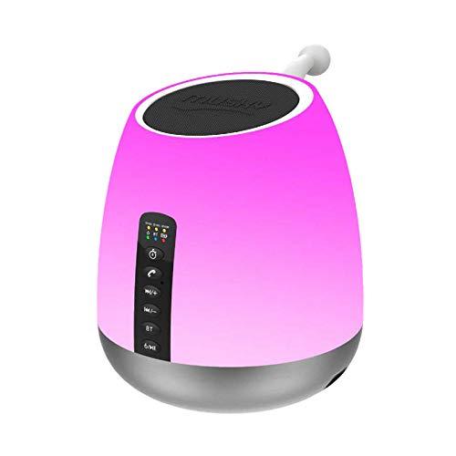 ZNYX Altavoz Bluetooth Inteligente Creativo Colorido Altavoz Bluetooth Luces Noche Potencia sueño...