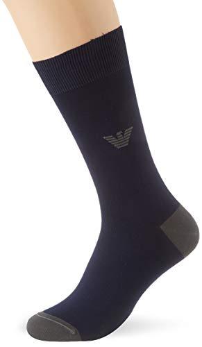Emporio Armani Underwear Herren SUPER FINE Lisle Yarn Short Socken, Blau (Blu Navy 00035), 43/44 (Herstellergröße: M)