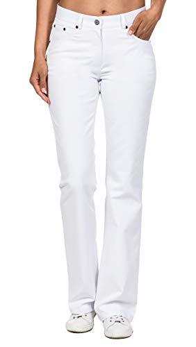 CLINIC DRESS - 5-Pocket-Hose für Damen Bootcut Weiß weiß 40