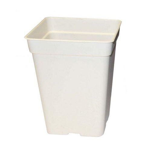 Pot carré blanc 3 litres - 15x15x20cm