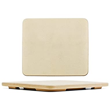 #1 Pizza Stone - Baking Stone. SOLIDO Rectangular 14 x16  - Perfect for Oven, BBQ and Grill