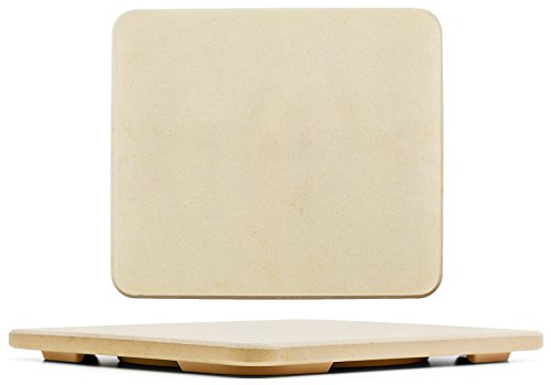 "#1 Pizza Stone - Baking Stone. SOLIDO Rectangular 14""x16"" - Perfect for Oven, BBQ and Grill"