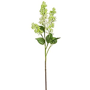 34.5″ Silk Lilac Flower Stem -Green (Pack of 12)