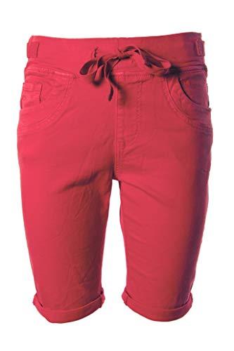 JOPHY & CO. Pantaloncini Corti Donna Jeans Denim in Cotone con Cinque Tasche (cod. 870 & 878) (Rosso (cod. 878), M)