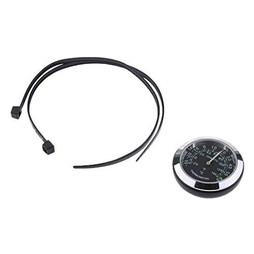 wasserdichte Uhr Uhr Thermometer Hygrometer Für Fahrrad Lenker - Thermometer - Schwarz