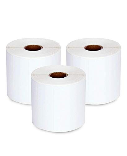 """enKo (3 Rolls, 4125 Labels) - 3"""" x 1"""" Direct Thermal Labels for FBA Stickers, FN SKU Labels for Zebra Thermal Printers"""