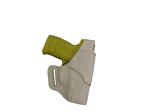 J&J Custom Fit KAHR CW9 OWB (Outside The Waistband) Belt Carry Formed Premium Natural Leather Holster with Thumb Break (Natural, Right)