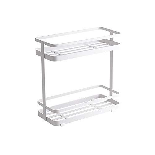 FuLov 2 Tier Badezimmer Regale, Ohne Bohren Grosse Kapazität Metall Badezimmer-Lagerregal, Geeignet Für Badezimmer Schminktische Küchen