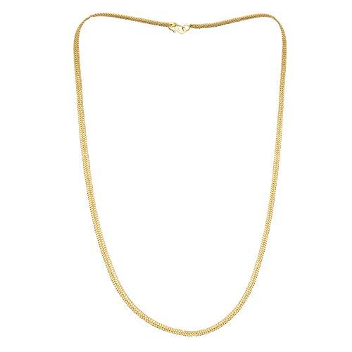 Shining Jewel - By Shivansh Men's 24K High Gold Plated Brass Celebrity Inspired Flat Gold Chain