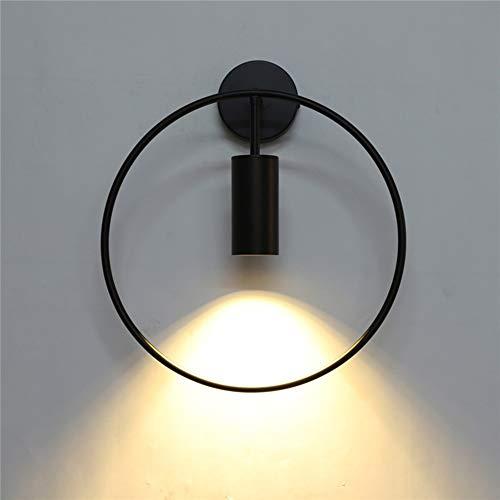 Yangmanini Nordic Lámpara De Pared Minimalista Moderna Sala De Estar Telón De Fondo Redondo Restaurante Dormitorio Lámpara De Pared De La Cabecera Pasillo Personalidad Creativa 35 * 40cm