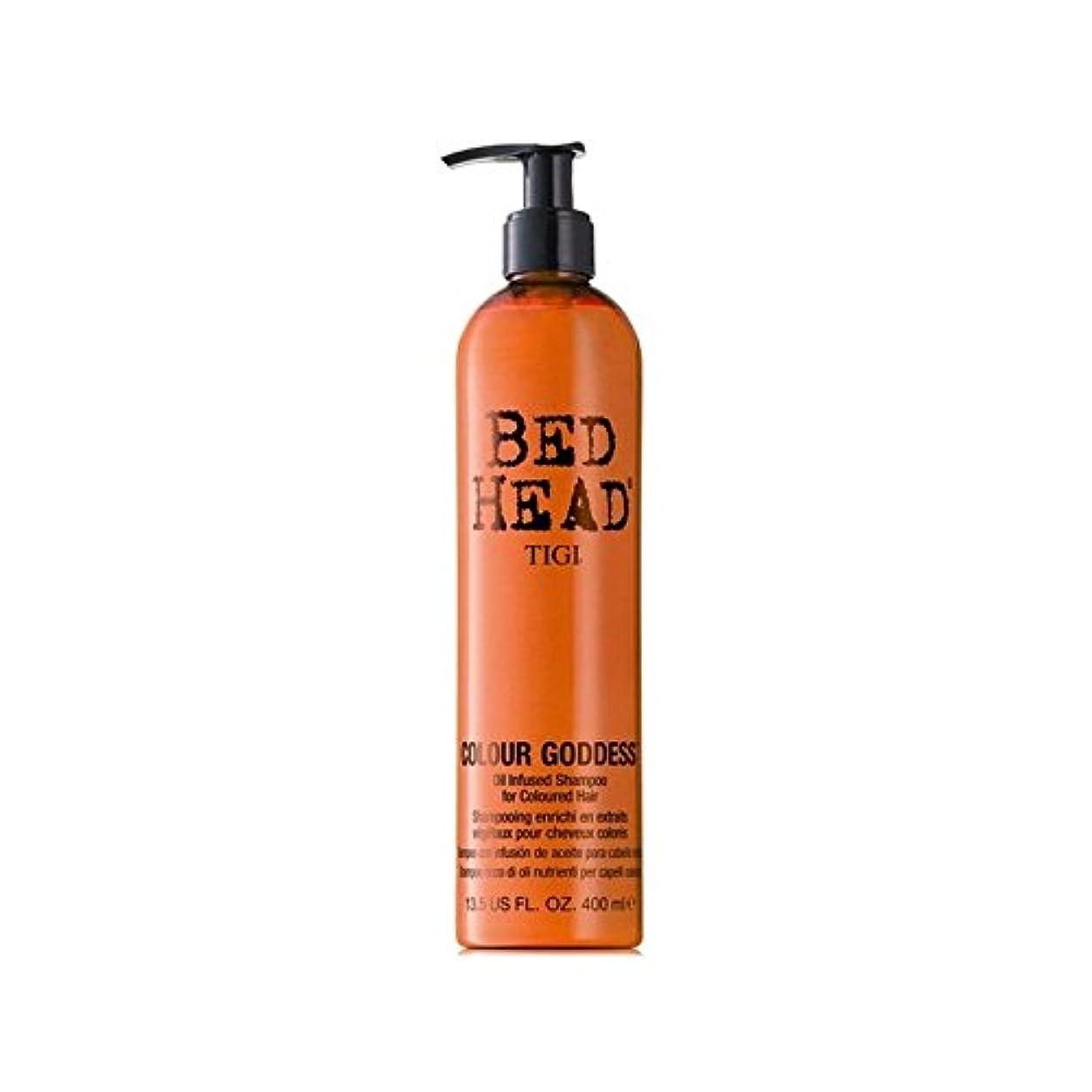 アトラストレッドバーチャルティジーベッドヘッドカラー女神シャンプー(400ミリリットル) x4 - Tigi Bed Head Colour Goddess Shampoo (400ml) (Pack of 4) [並行輸入品]