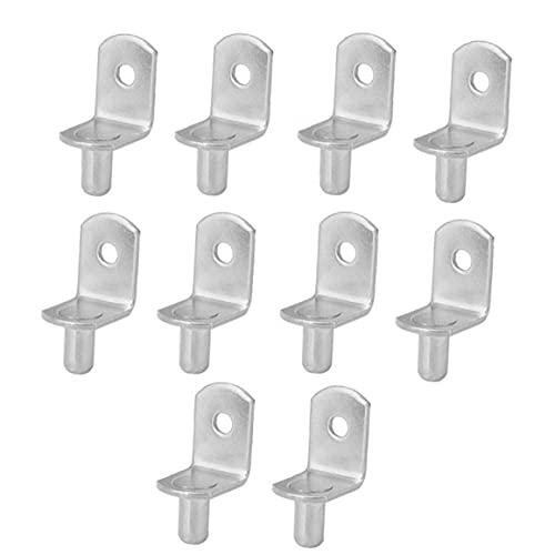 Rejillas clavijas de soportes de pernos con orificio para el armario del gabinete armario de la cocina Muebles estante 10PCS