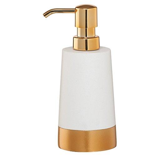 Sealskin Seifenspender Glossy, Acryl, weiß / gold