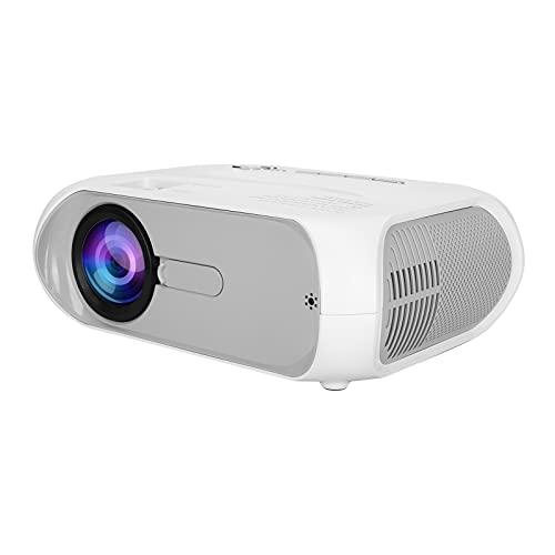 Gaeirt Mini Proyector de Video, 1280x720 TFT LCD LED Proyector de Películas de Cine en Casa con Función de Espejo de Pantalla Mini Proyector de Teléfono Móvil para Android/iOS(EU)
