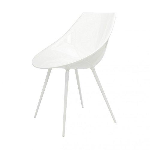 Lago del reposabrazos silla color blanco