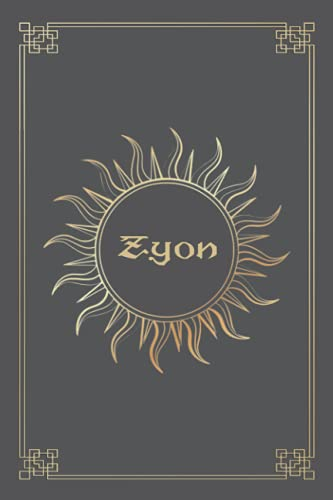 ZYON JOURNAL GIFTS: Lined Notebook with Personalized Name On The Cover (Perfect Present for All Events)