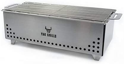 Portable Tabletop Charcoal Grill YAK Grills Hibachi 100 Stainless Steel Grill at 750 F Outdoor product image