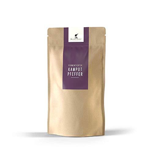 Hennes Finest Fermentierter Kampot Pfeffer (Grüner Pfeffer) - 50g Kampot Pfeffer fermentiert, Fermentierter Pfeffer aus Kambodscha, echter Gourmet Pfeffer, Pfefferkörner ganz aus fairer Erzeugung