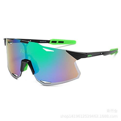 Ciclismo todoterreno gafas de protección solar-C2 negro marco verde azul película verde