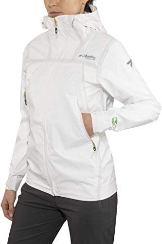 Columbia Outdry Ex Eco Tech Shell - Giacca da donna, Donna, Giacca, 1717393, Bianco non sato., XS