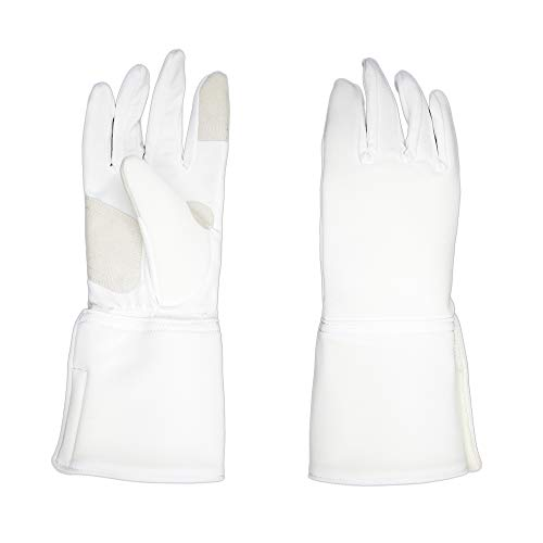 ThreeWOT Fencing Glove,Washable Anti-Skid Practice Gloves for Sabre/Epee/Foil (9.5)