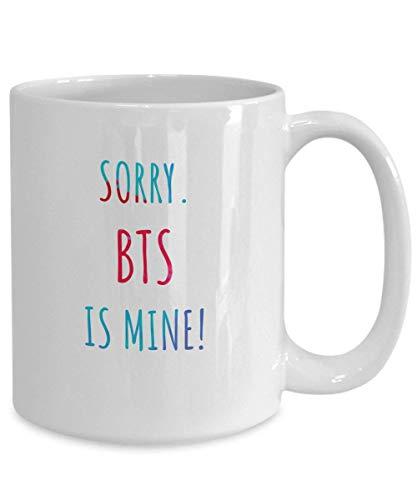 N\A BTS Meme Taza De Café Lo Siento BTS es mío Bangtan Boys Merch For BTS Lovers BTS Merchandise for Girls Kim Namjoon Taehyung Hoseok Yoongi