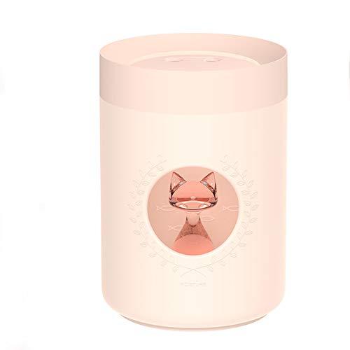 Ultraschall Luftbefeuchter 800 Ml Dual Düse Nette Katze Tragbare Usb Aroma Diffusor Led Lampe Air Mist Maker Humidificador Rosa