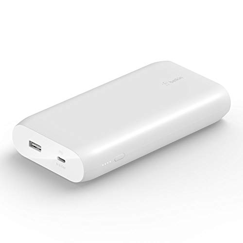 Belkin USB-C PD Power Bank 20K (Fast Charge Portable Charger w/USB-C + USB Ports, 20000mAh Capacity) Battery Pack for MacBook, iPhone, iPad, More (BPB002BTBK)