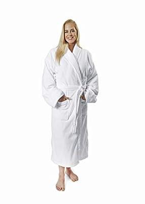 Royal Grand Velour Terry Cotton Bathrobe for Men & Women - Ultra Plush Combed Cotton Unisex Robe