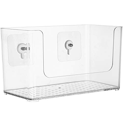 Sea Team Vakuum-Saugnapf für die Dusche, transparenter Kunststoff, Wandmontage, Kosmetik-Aufbewahrung, Organizer für Badezimmer, Toilettentisch