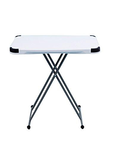 Table réglable Table Ordinateur Table Pliante Table à Manger Blanc