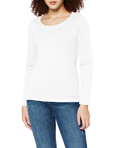 edc by ESPRIT Damen 100CC1K312 T-Shirt, Off White (110), XS