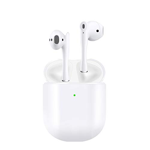 Maxsooner Auriculares Bluetooth 5.0, Auriculares inalámbricos, Control táctil, micrófono Incorporado y Caja de Carga, reducción de Ruido estéreo 3D HD, Adecuado para Android/iPhone/AirPods/Samsung
