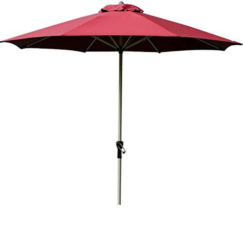 XIAOYUE Best Choice Products Sombrilla Parasol de Patio de Mercado Al Aire Libre Redondo de 9 Pies con Poste de Aluminio, Eje de BalancíN de AleacióN de Aluminio