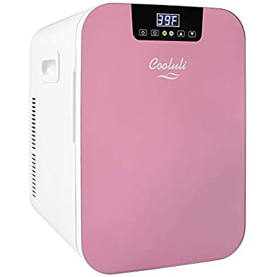 small pink refrigerator for office