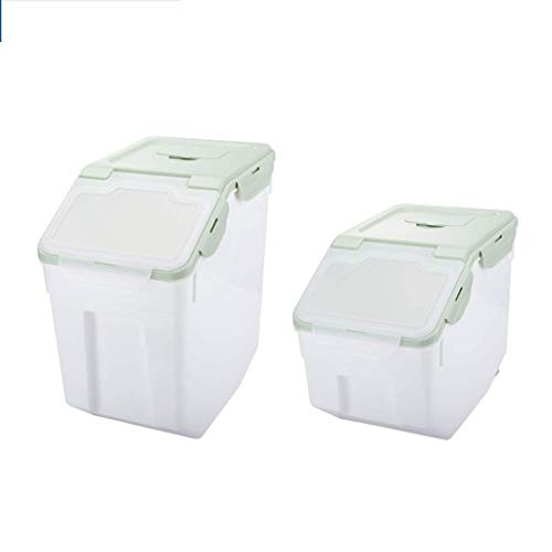 DPPD Rice Storage Container, Cereal Food Storage Containers, Transparent Lidded Storage Bins Boxes, Sealed Moisture Proof Food Storage for for Dry Food,A