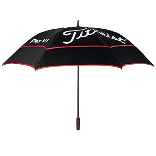 Titleist Tour Double Canopy Golf Umbrella Black/Black/Red