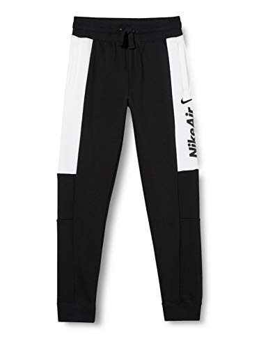 Nike Boys Air Sweatpants, Black/White/Black/Black, XL