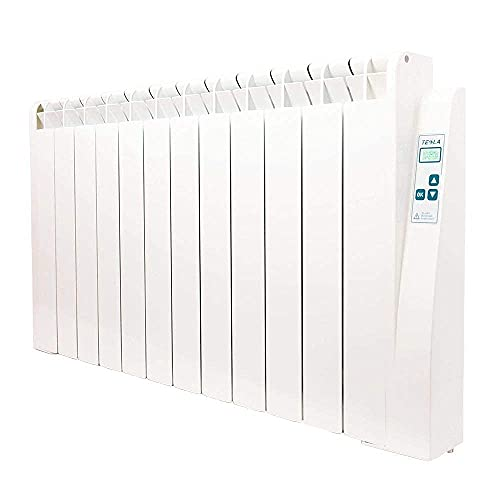 farho Radiador Bajo Consumo Tessla Ultra 1990W (12) · Emisor Térmico con Termostato Digital Programable 24/7 · Radiadores Eléctricos · Acumulador de Calor hasta 27m² · 20 AÑOS DE GARANTÍA