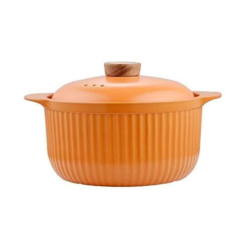 IUYJVR Sartén para Sopa Sartén de Barro Cazuela Sartén de cerámica para Sopa Sartenes de Cocina Resistentes a Altas temperaturas para la Cocina (Color: Naranja)