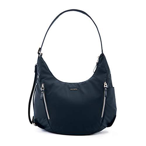 Pacsafe Stylesafe Convertible Crossbody und Schultertasche, Umhängetasche für Damen, Handtasche mit Diebstahlschutz, Sicherheits-Features - 10 Liter, Uni, Navy / Blau