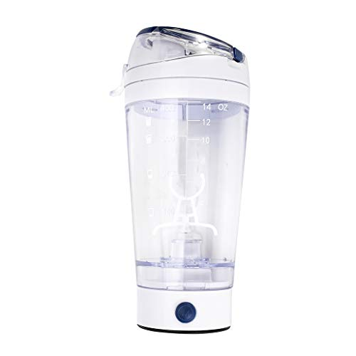 JIACUO 450ml Electric Protein Shaker Cup Shake Mixer Drink Bottle Gym Powder Blender