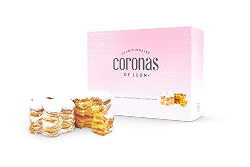 Nazaré Hojaldrería Dulces de Hojaldre de Mantequilla cubierto con Azúcar glass - Coronas de León - 12 Unidades 350 gr